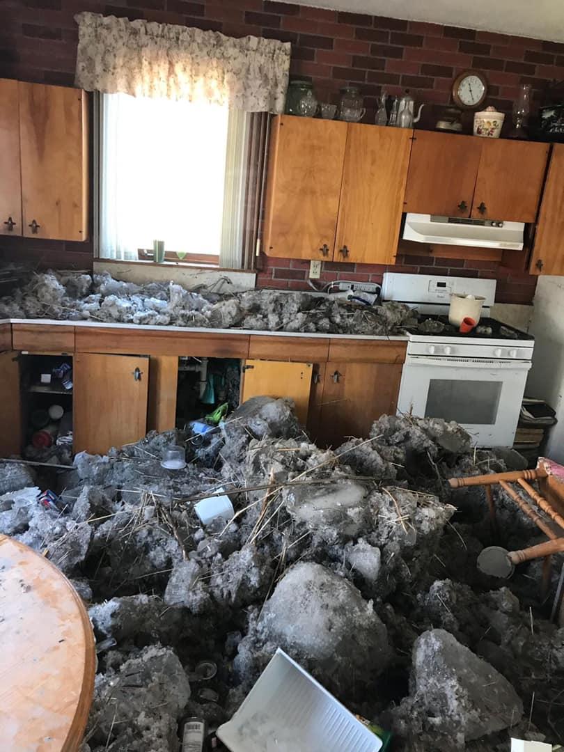 Nebraska flood kitchen