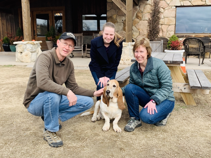 Lodge at Ree Drummond's Ranch family petting Walter