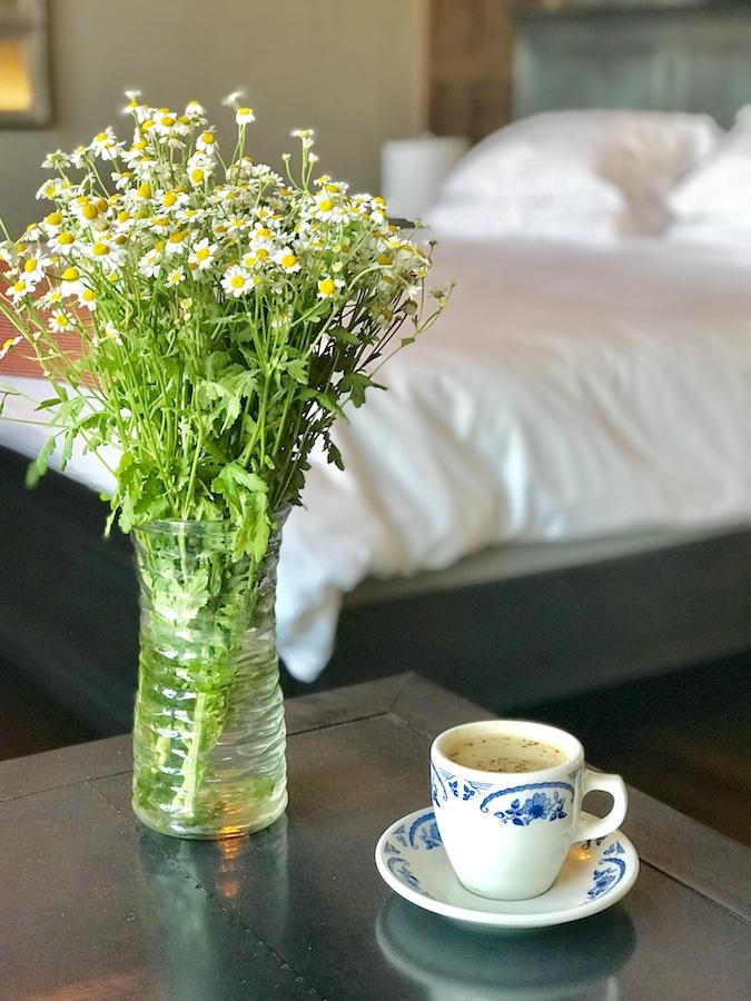 flowers in drug store room Pioneer Woman hotel