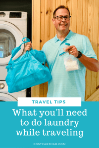 what you'll need to do laundry while traveling