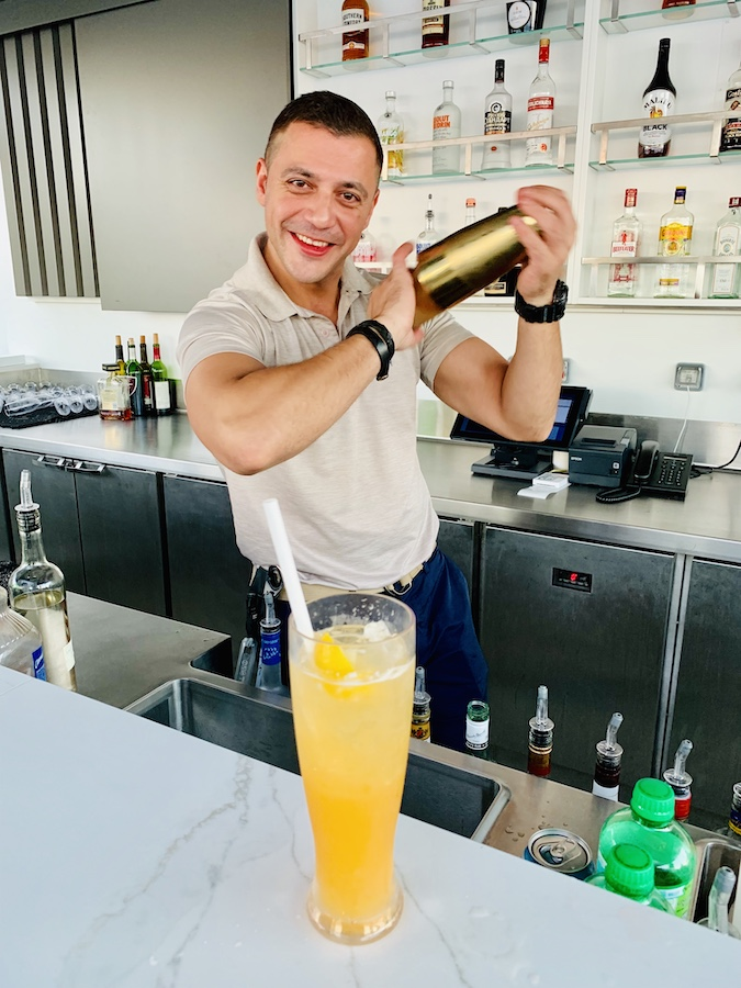 Bars on the Celebrity Edge Adrian at The Retreat Sundeck