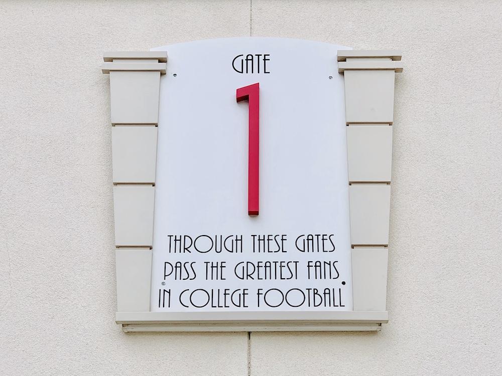 Memorial Stadium Lincoln gate 1 through these gates