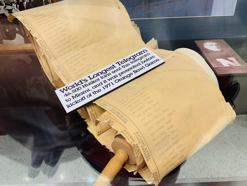 memorial stadium tour Lincoln longest telegram