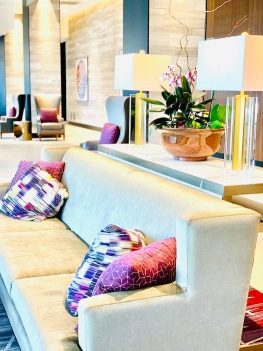 Lobby at Hilton Rochester Mayo Clinic