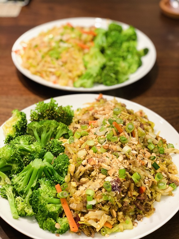 best low-calorie egg roll in a bowl