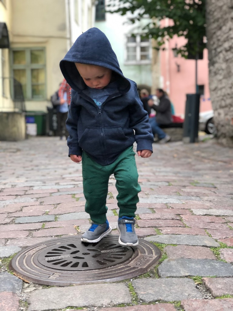 Keep them moving hack: Sewer hopping. Traveling with Kids