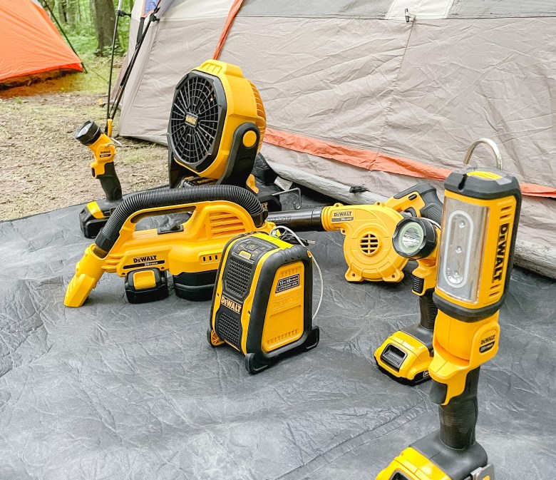 Family Camping Gadgets: 17 Ways to Turn Camping into Glamping with Dewalt