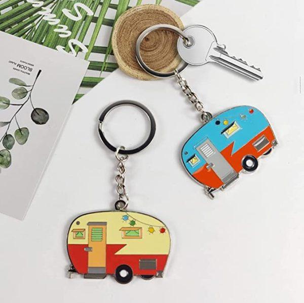 Travel Gift Happy Camper Keychain