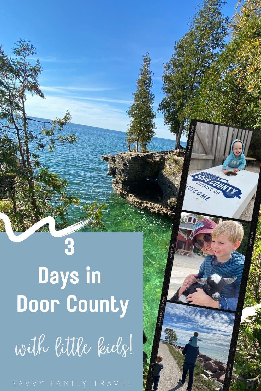 3 Days in Door County with Little Kids