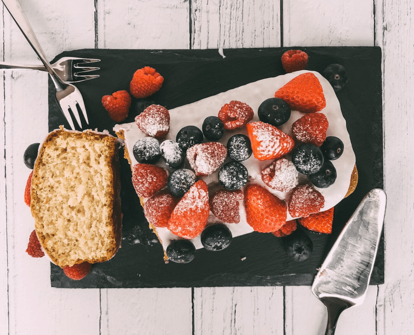 Lemon Loaf Cake with Fresh Fruit