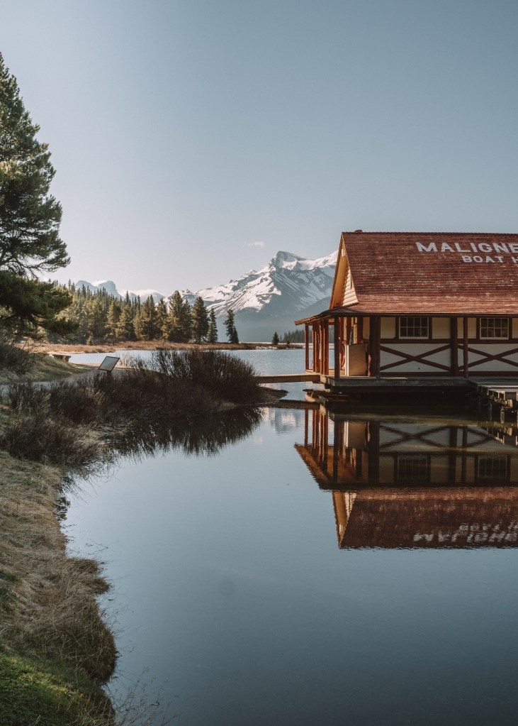 The Boathouse, Maligne Lake