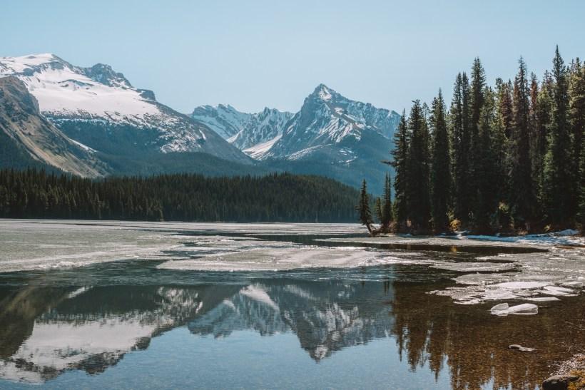 Reflections on Maligne Lake, Jasper National Park