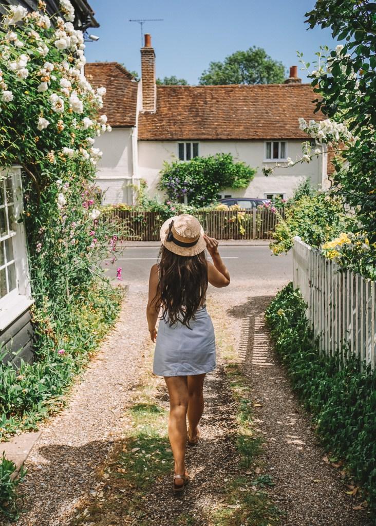 Walking through Much Hadham, Hertfordshire