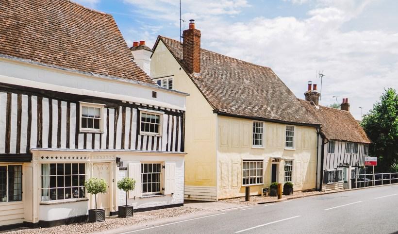 Medieval housing in Much Hadham, Hertfordshire