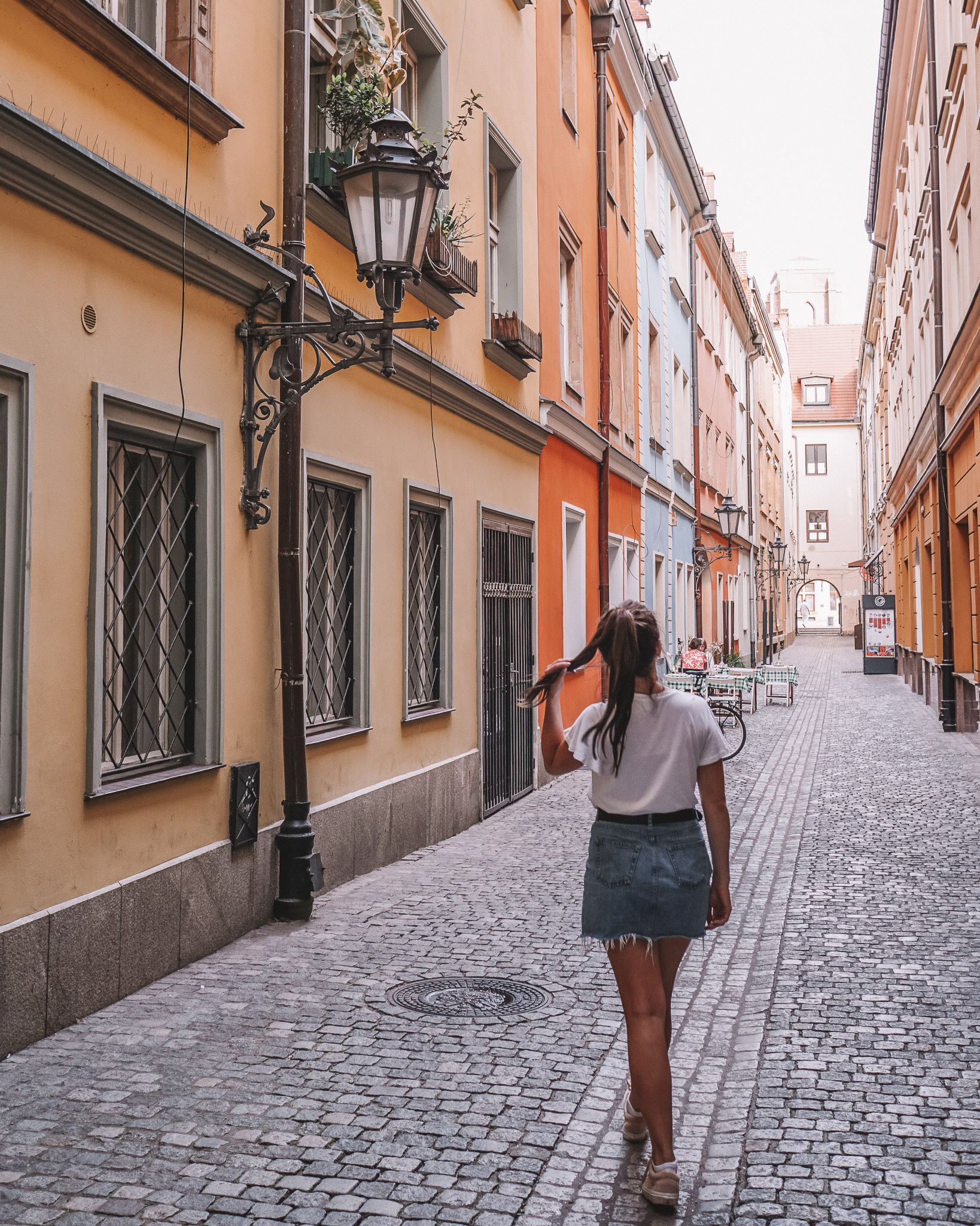 Walking through the streets of Wroclaw