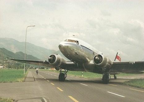 DOUGLAS DC3 DAKOTA AT STANS SWITZERLAND