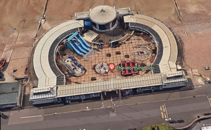 Bandstand and Lido in Worthing England 2018