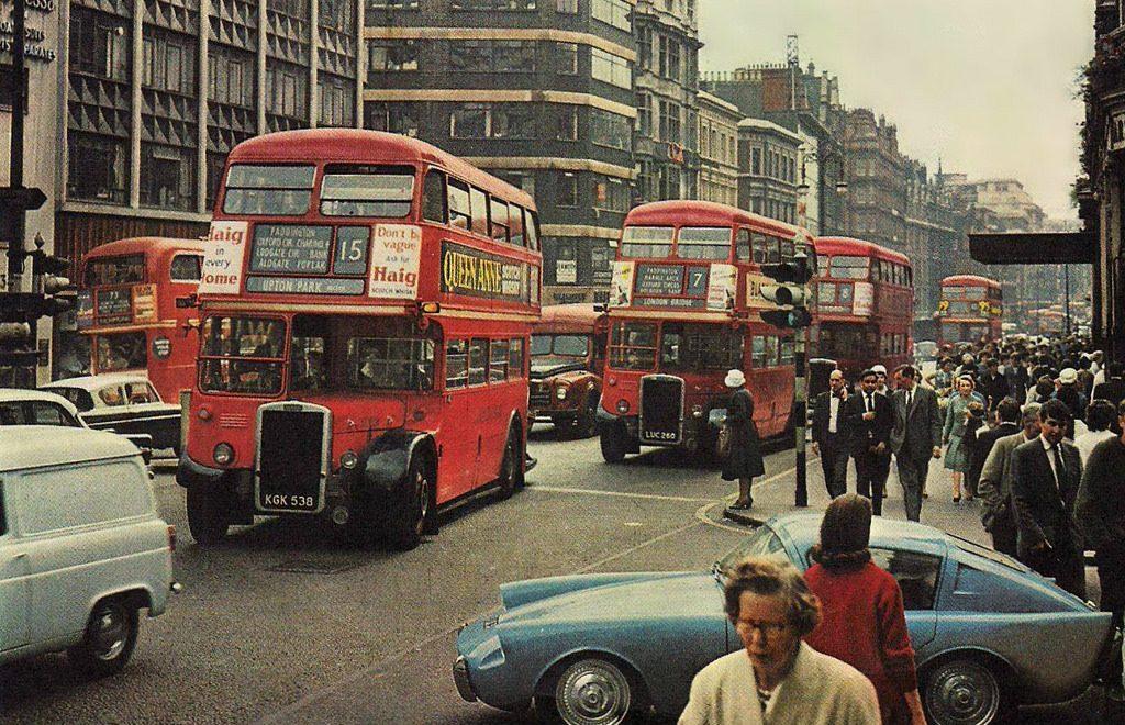 Mystery classic car on London street