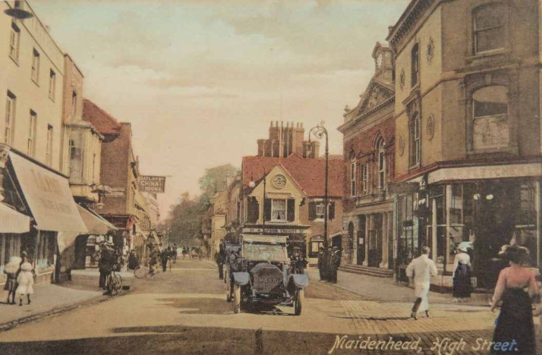 Maidenhead High Street colourized
