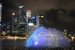 Skyline by night, Singapore