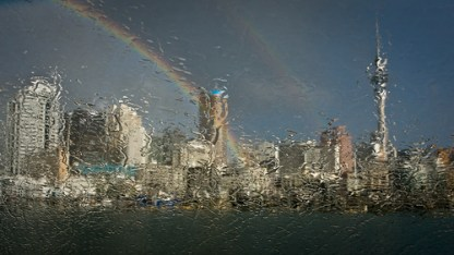 Auckland in the rain