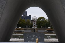 The Memorial Cenotaph and Flame of Peace