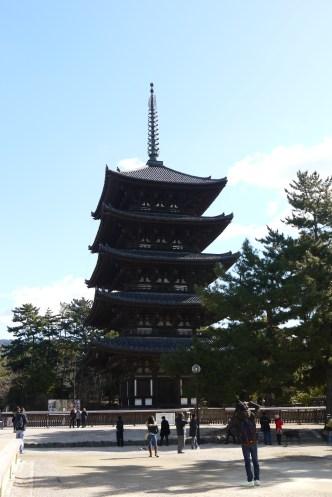 The five-storey pagoda at Kofukui Temple