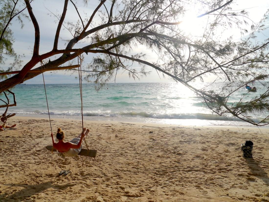 Swing, Beach, Ocean