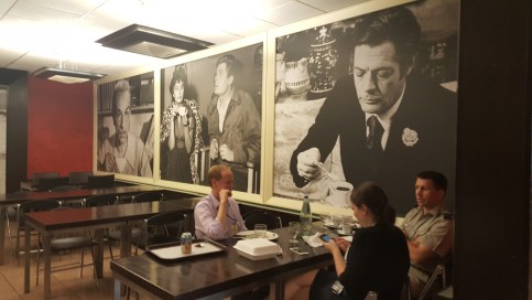 More photos of film stars enjoying espresso
