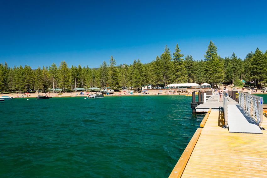 summer lake tahoe dock