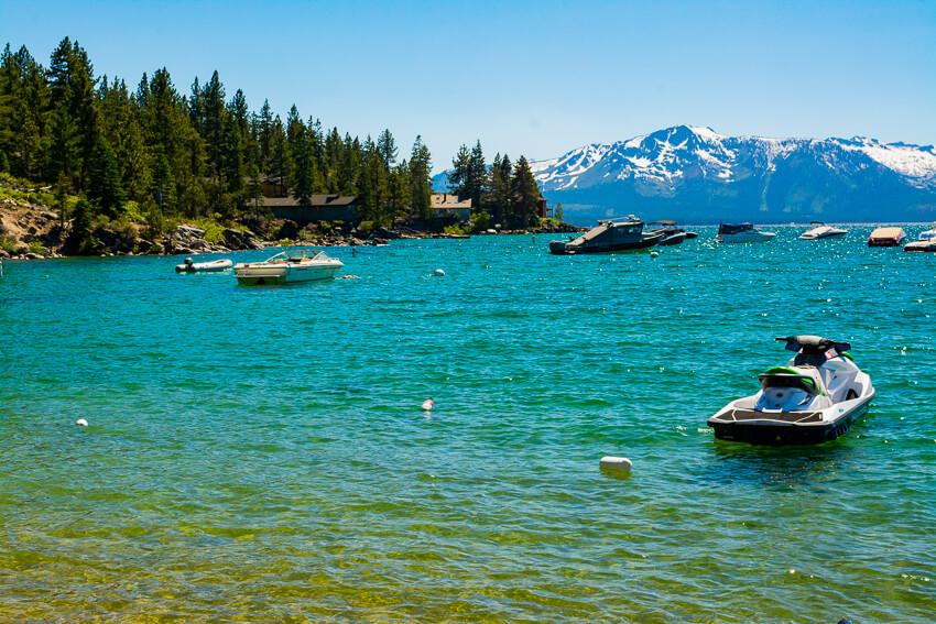 summer lake tahoe jetski