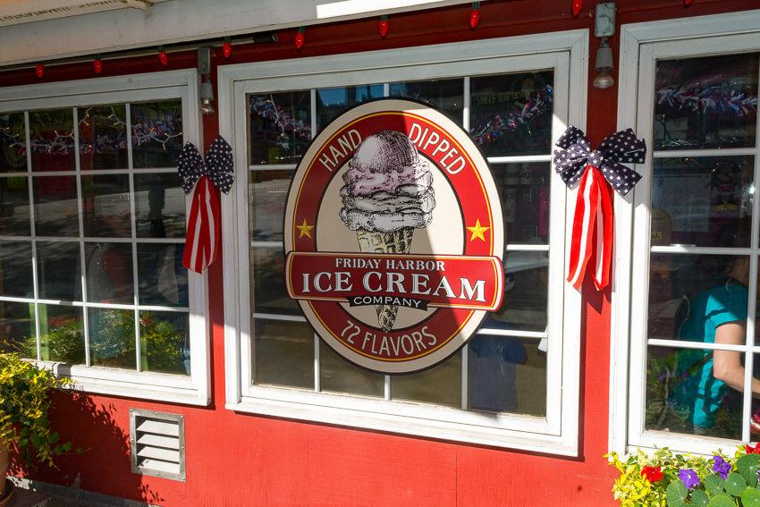 visiting san juan island ice cream