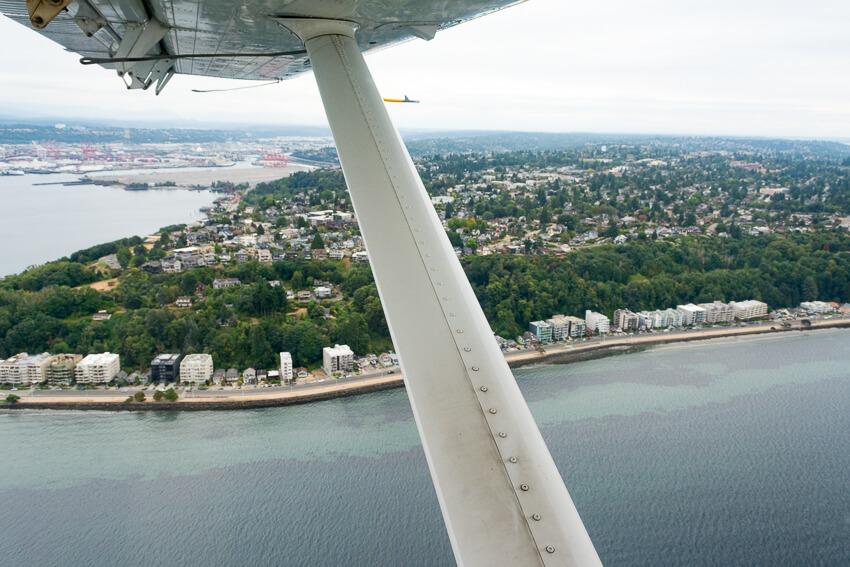 viewing seattle by seaplane west seattle