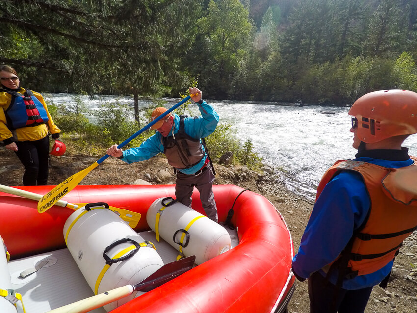 whitewater rafting tieton river instruction