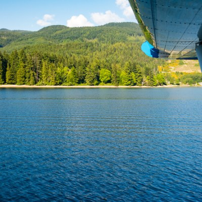 Flying Over Vancouver Island in a Seaplane