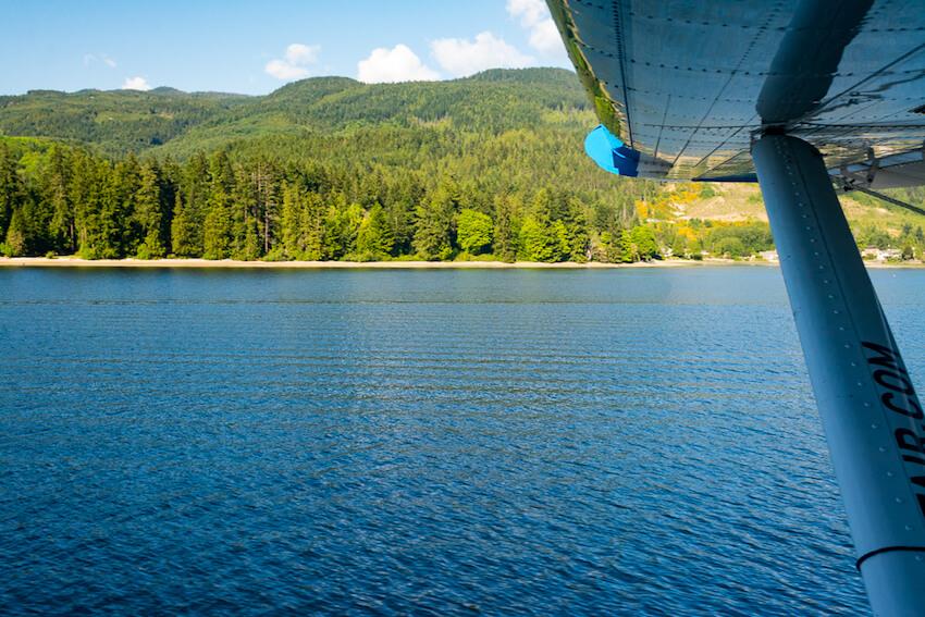 vancouver island seaplane shore