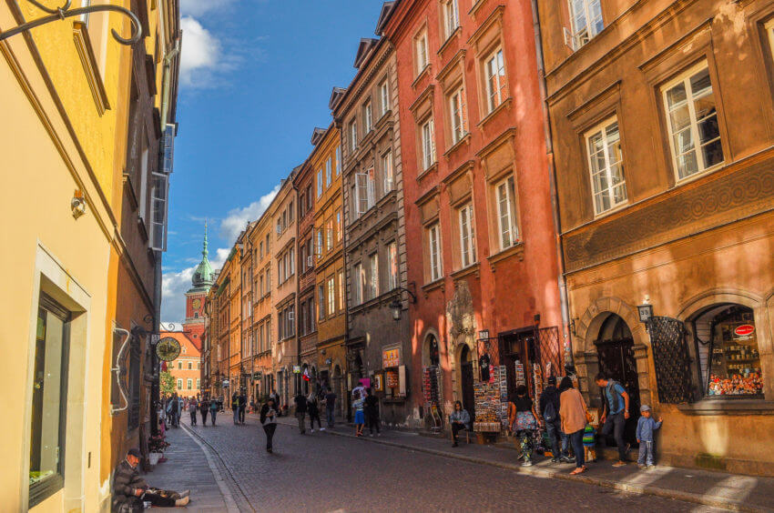 cheapest time travel europe warsaw