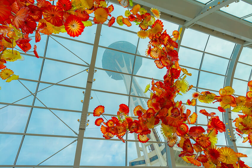 top instagrammable spots chihuly space needle