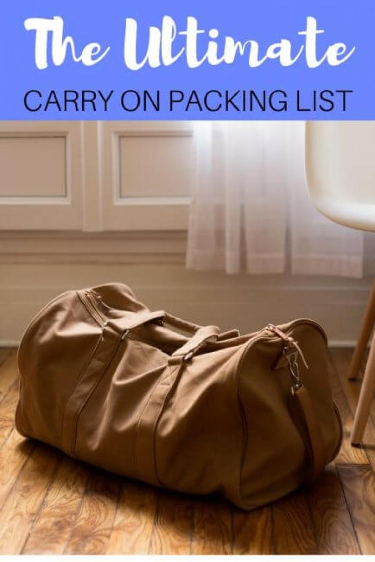 Trying to figure out what to put in your carry on bag can be a pain. Use these tips to still bring everything you need with the ultimate carry on packing list.