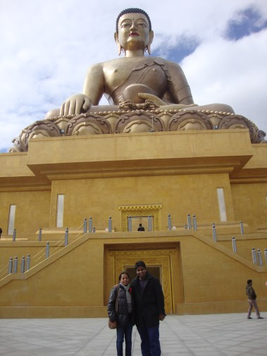In the company of the Buddha