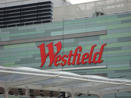 "The familiar ""Westfield"" logo"