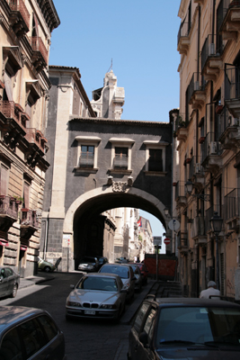 Archway, possibly old gateway.  There are at least 4 other churches or monasteries located on this street.