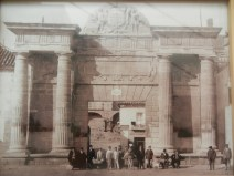 Photos from the early 20th century exhibited inside the Gate