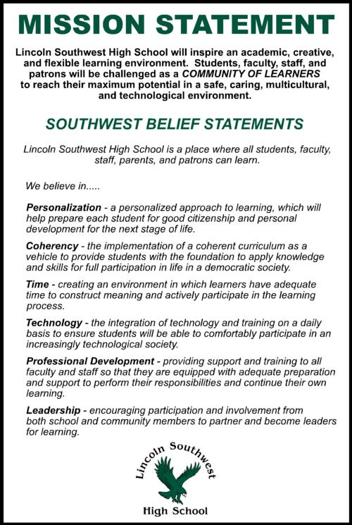 Southwest High School Mission Statement