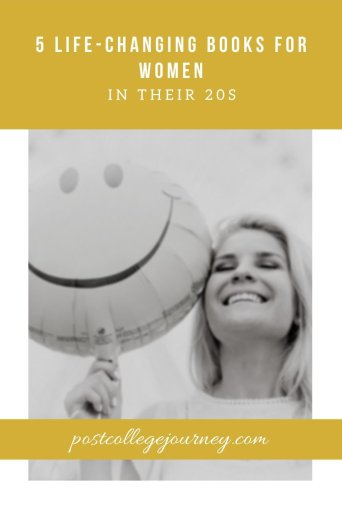 girl holding smiley face balloon because she read 5 of the best books for recent graduates | life changing books for women in their 20s | motivational books