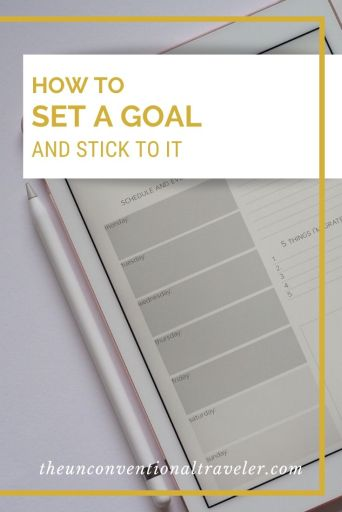 How to set a goal and stick to it