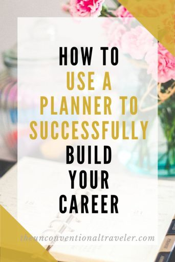 How to use a planner to successfully build your career