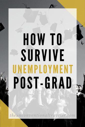 How to survive unemployment as a post-grad