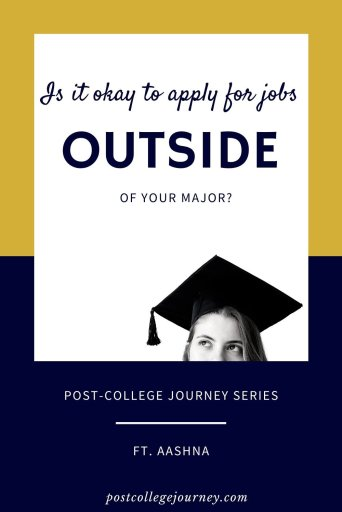 Is it okay to apply for jobs outside of your major-pin