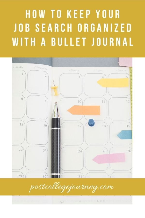 how to stay organized pinterest image with bullet journal page